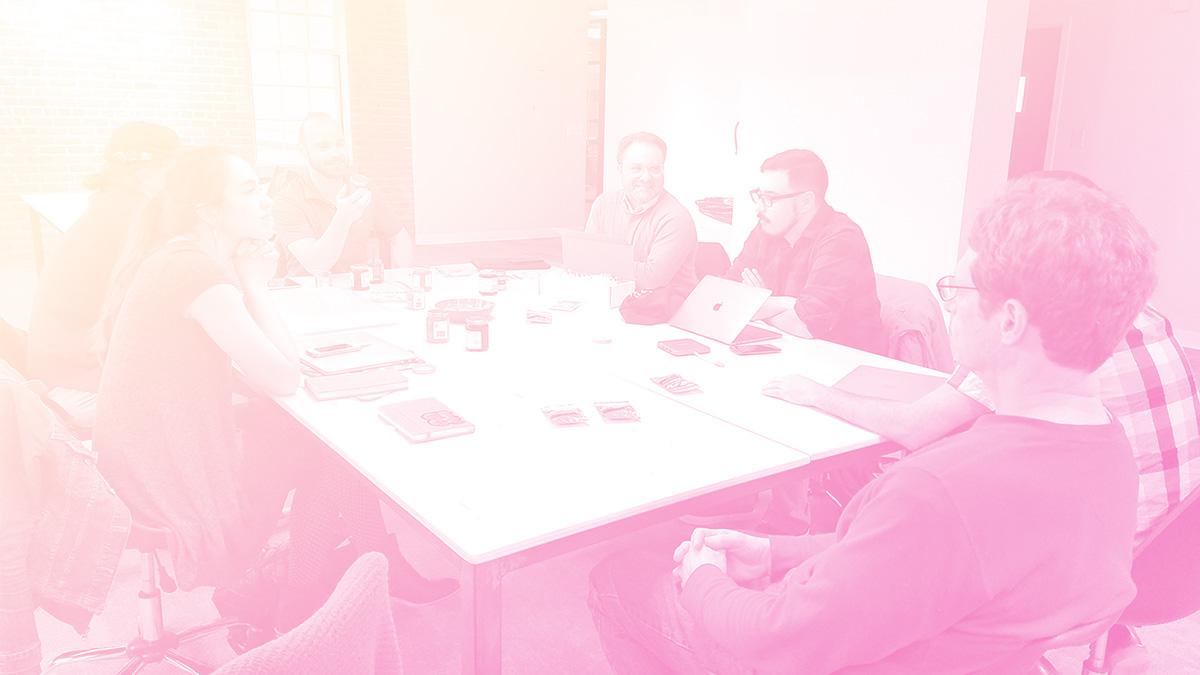 Designers meeting around table